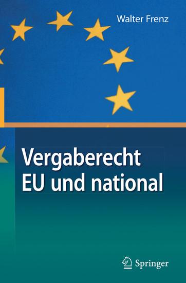 Vergaberecht EU und national - Blick ins Buch