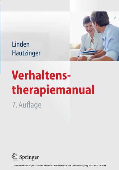 Verhaltenstherapiemanual - Blick ins Buch