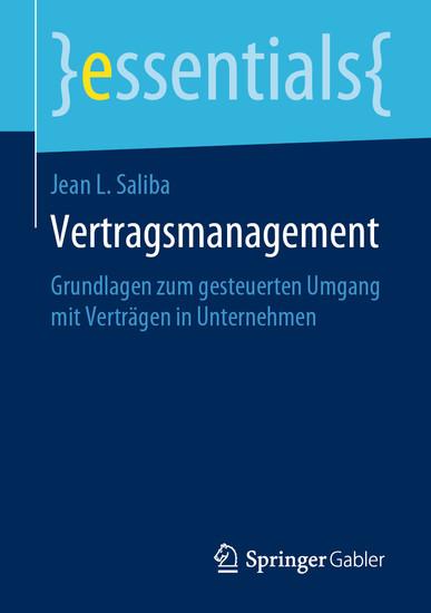Vertragsmanagement - Blick ins Buch