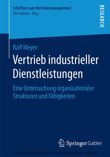 Vertrieb industrieller Dienstleistungen - Blick ins Buch