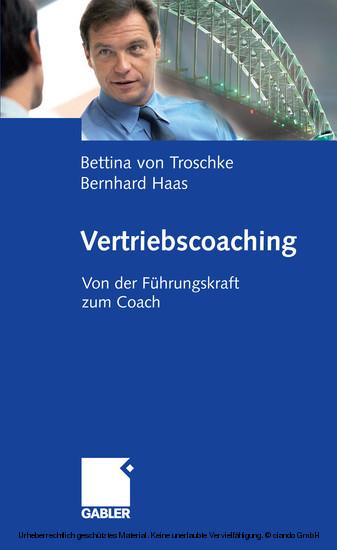 Vertriebscoaching - Blick ins Buch