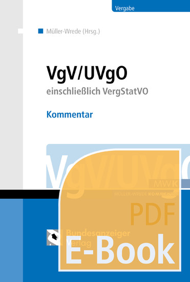 VgV / UVgO - Kommentar (E-Book) - Blick ins Buch