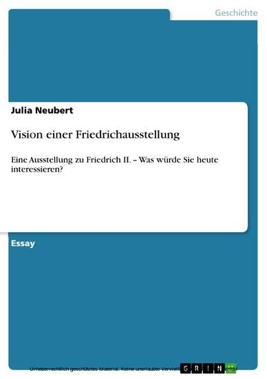 Vision einer Friedrichausstellung - Blick ins Buch
