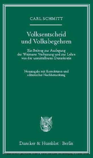 Volksentscheid und Volksbegehren. - Blick ins Buch