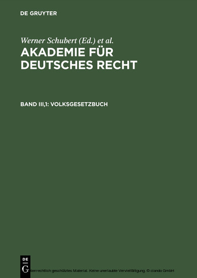 Volksgesetzbuch - Blick ins Buch