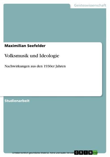Volksmusik und Ideologie - Blick ins Buch