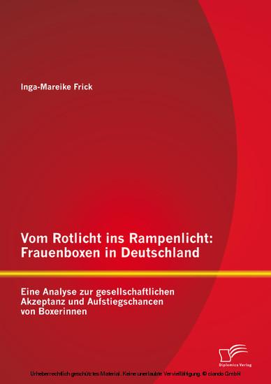 Vom Rotlicht ins Rampenlicht: Frauenboxen in Deutschland - Blick ins Buch