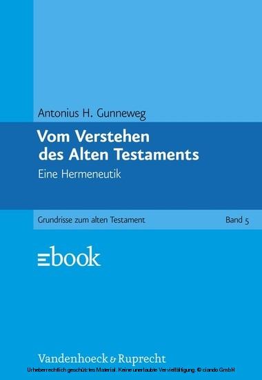 Vom Verstehen des Alten Testaments - Blick ins Buch