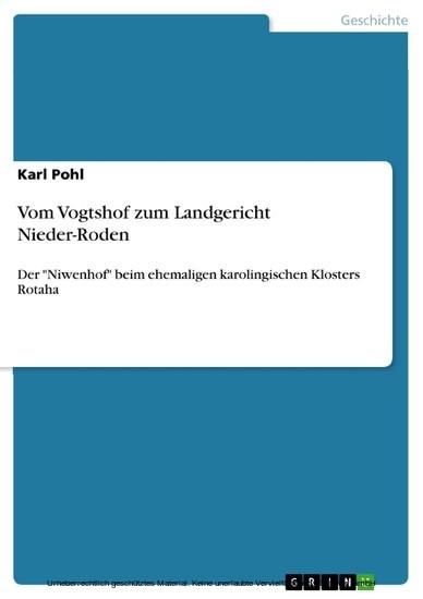 Vom Vogtshof zum Landgericht Nieder-Roden - Blick ins Buch