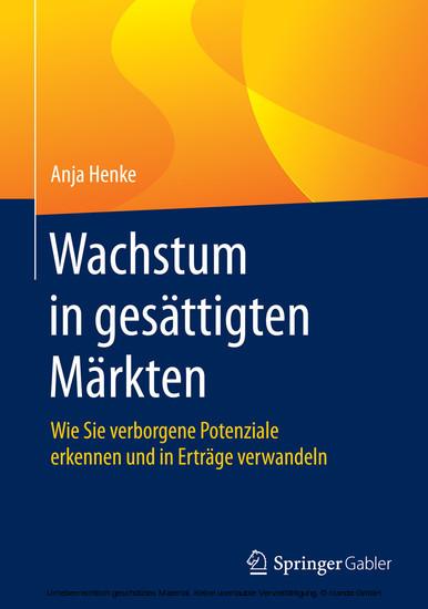 Wachstum in gesättigten Märkten - Blick ins Buch