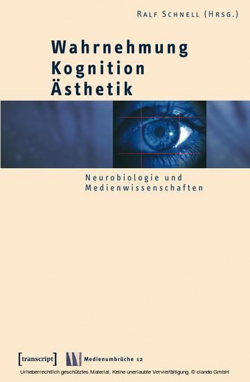 Wahrnehmung - Kognition - Ästhetik - Blick ins Buch