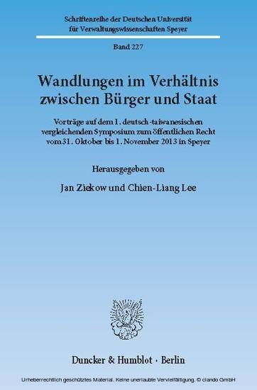 Wandlungen im Verhältnis zwischen Bürger und Staat. - Blick ins Buch