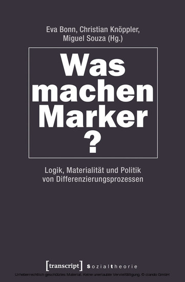 Was machen Marker? - Blick ins Buch