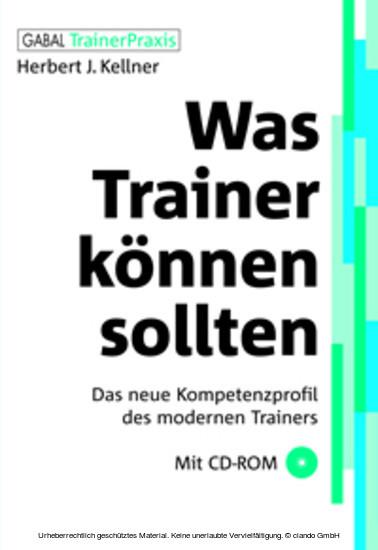 Was Trainer können sollten - Blick ins Buch