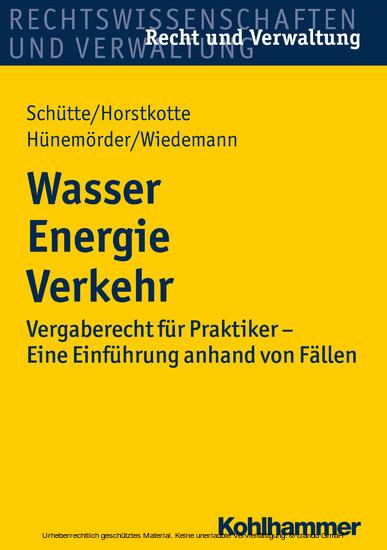 Wasser Energie Verkehr - Blick ins Buch