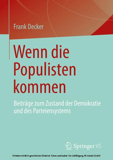 Wenn die Populisten kommen - Blick ins Buch