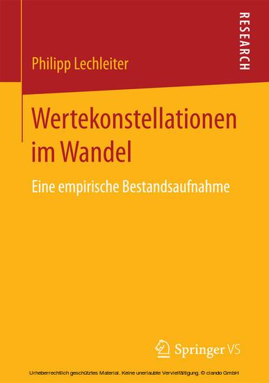 Wertekonstellationen im Wandel - Blick ins Buch