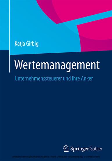 Wertemanagement - Blick ins Buch