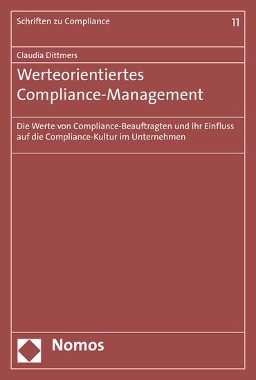 Werteorientiertes Compliance-Management - Blick ins Buch