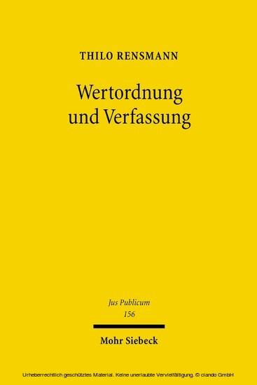 Wertordnung und Verfassung - Blick ins Buch
