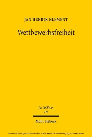 Wettbewerbsfreiheit - Blick ins Buch