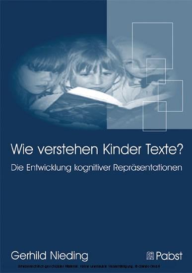 Wie verstehen Kinder Texte? - Blick ins Buch