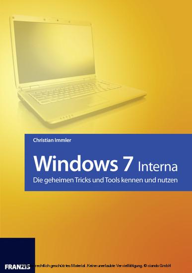 Windows 7 - Interna - Blick ins Buch
