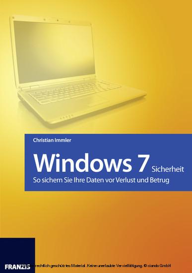 Windows 7 - Sicherheit - Blick ins Buch