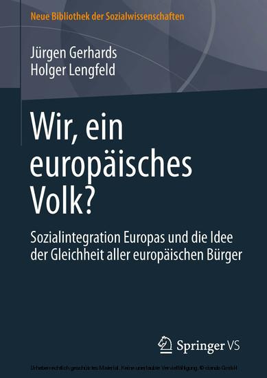 Wir, ein europäisches Volk? - Blick ins Buch