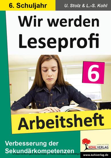 Wir werden Leseprofi - Arbeitsheft / Klasse 6 - Blick ins Buch