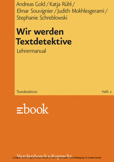 Wir werden Textdetektive - Blick ins Buch