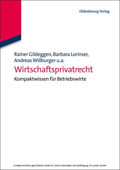 Wirtschaftsprivatrecht - Blick ins Buch