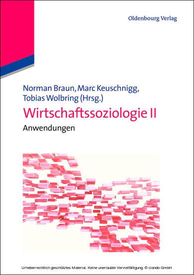 Wirtschaftssoziologie II - Blick ins Buch
