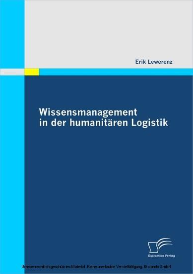 Wissensmanagement in der humanitären Logistik - Blick ins Buch
