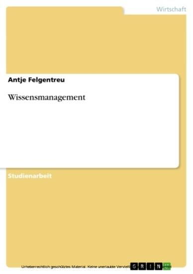 Wissensmanagement - Blick ins Buch