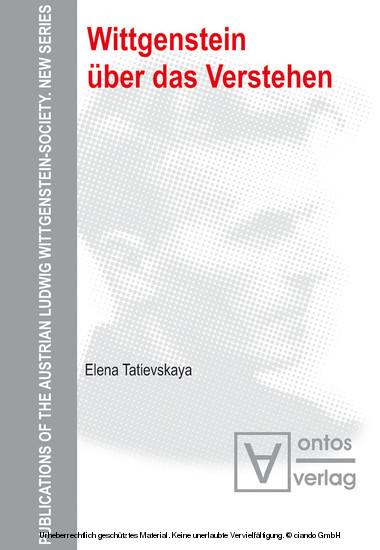 Wittgenstein über das Verstehen - Blick ins Buch