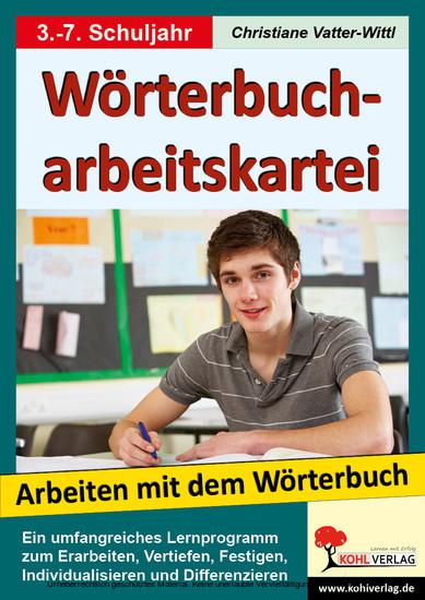 Wörterbucharbeitskartei - Blick ins Buch
