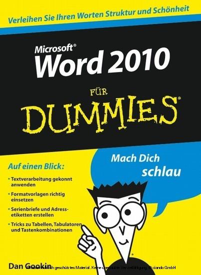 Word 2010 für Dummies - Blick ins Buch