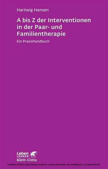 A bis Z der Interventionen in der Paar- und Familientherapie - Blick ins Buch