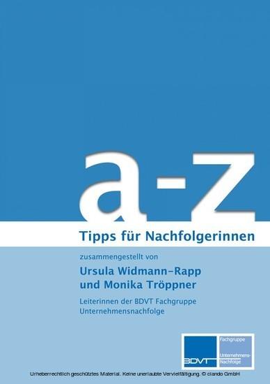 a - z Tipps zur Unternehmensnachfolge für Nachfolgerinnen - Blick ins Buch