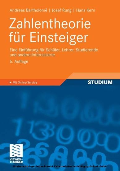 Zahlentheorie für Einsteiger - Blick ins Buch
