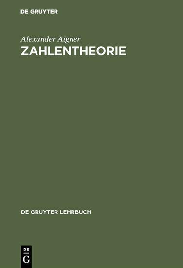Zahlentheorie - Blick ins Buch