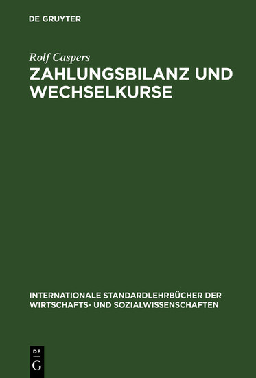 Zahlungsbilanz und Wechselkurse - Blick ins Buch