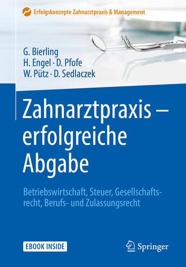Zahnarztpraxis - erfolgreiche Abgabe - Blick ins Buch
