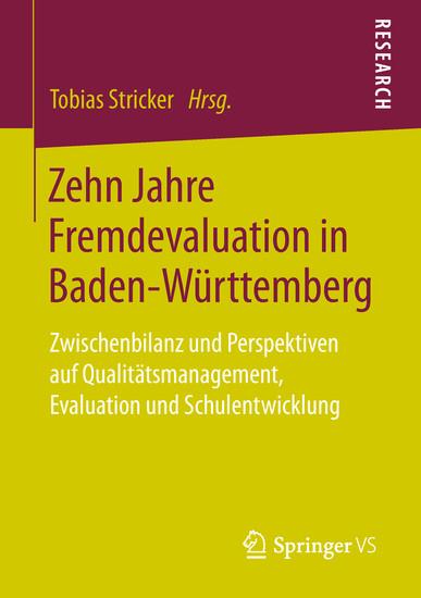 Zehn Jahre Fremdevaluation in Baden-Württemberg - Blick ins Buch