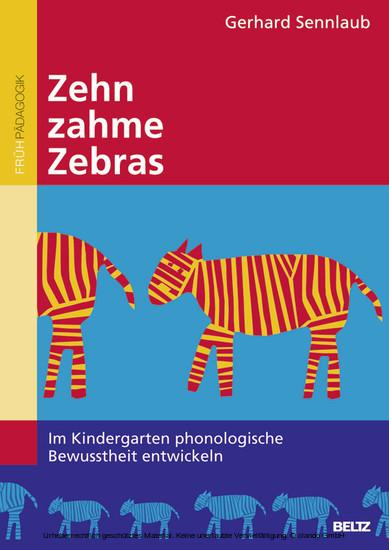 Zehn zahme Zebras - Blick ins Buch