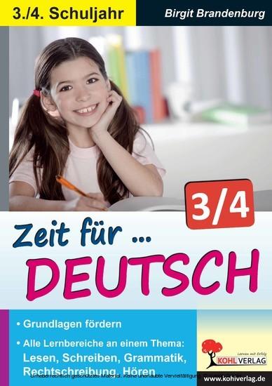 Zeit für Deutsch / Klasse 3-4 - Blick ins Buch