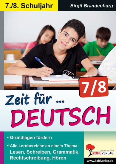 Zeit für Deutsch / Klasse 7-8 - Blick ins Buch