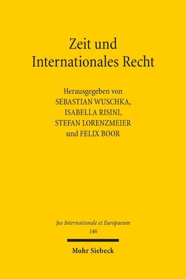 Zeit und Internationales Recht - Blick ins Buch