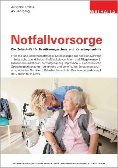 Zeitschrift Notfallvorsorge Heft 01/2014 - Blick ins Buch